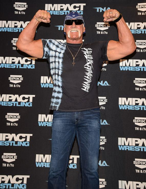 Hulk Hogan on the red carpet at Orleans Arena in Las Vegas