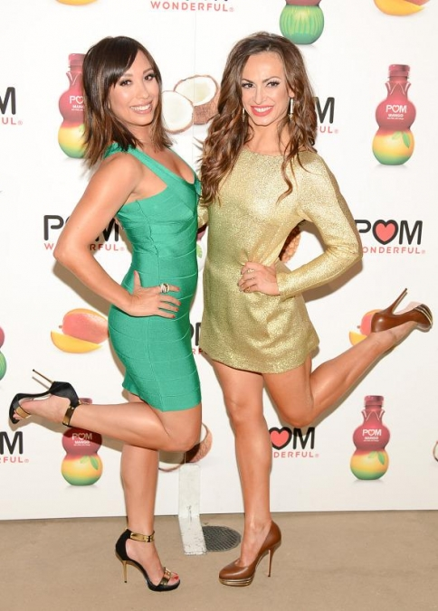 Cheryl Burke and Karina Smirnoff Celebrate Launch of POM Wonderful's Juice Blends at Encore Beach Club