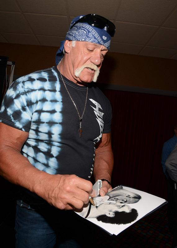 Hulk Hogan signs autographs at Orleans Arena in Las Vegas