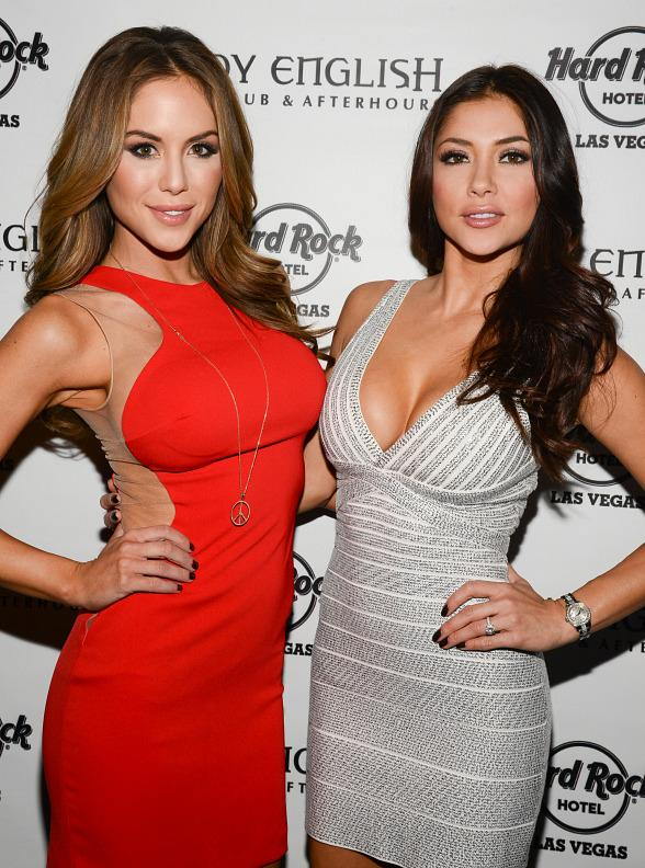 Brittney Palmer, Vanessa Hanson, Arianny Celeste Host UFC 168 After Party at Body English Nightclub in Hard Rock Las Vegas