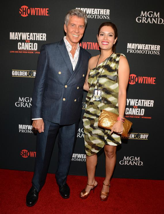 Michael Buffer and his wife Christine