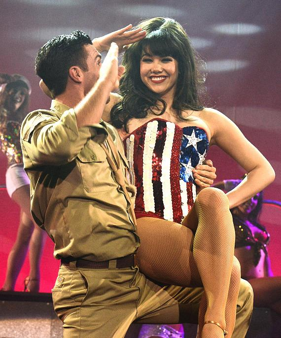 Claire Sinclair performs in PIN UP at The Stratosphere Casino Hotel & Tower in Las Vegas