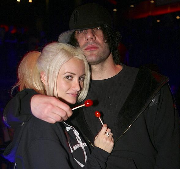Holly Madison and Criss Angel at LAX Nightclub