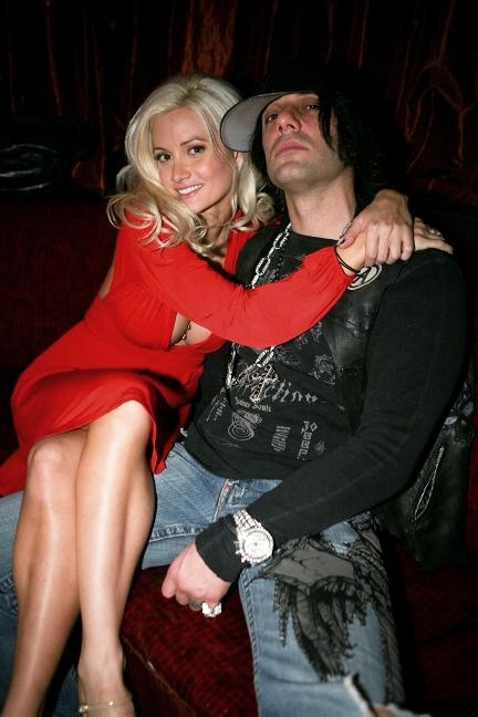 Holly Madison and Criss Angel at LAX Nightclub in Las Vegas