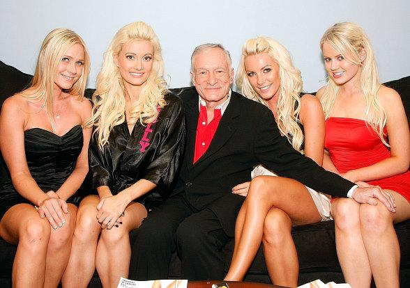 Holly Madison, Hugh Hefner and girlfriends