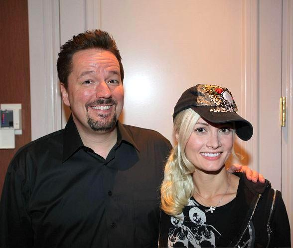 Holly Madison and Terry Fator at The Mirage