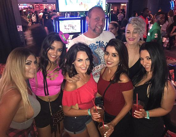 """Horny Mike"" Henry and Girls at the D Casino Hotel Las Vegas"