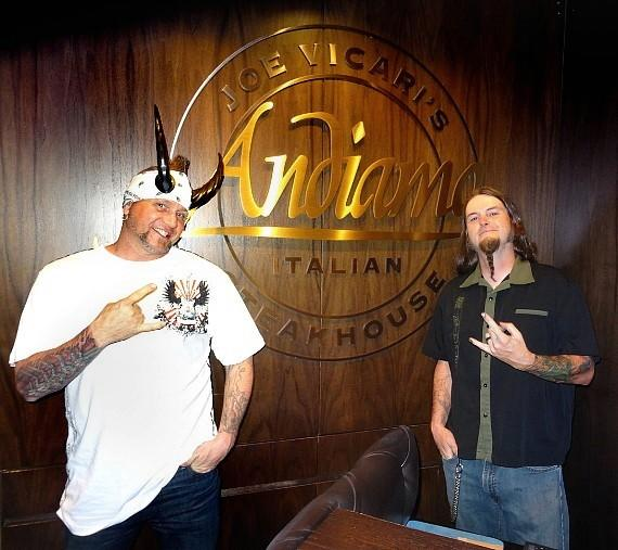 """""""Counting Cars"""" stars Horny Mike and Ryan Evans at Andiamo Italian Steakhouse at the D Casino Hotel"""