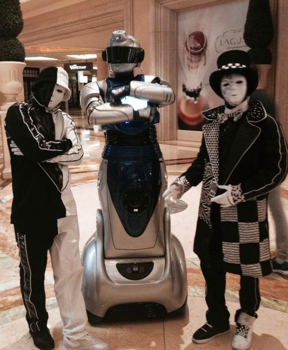 iCan Showbot and Jabbawockeez