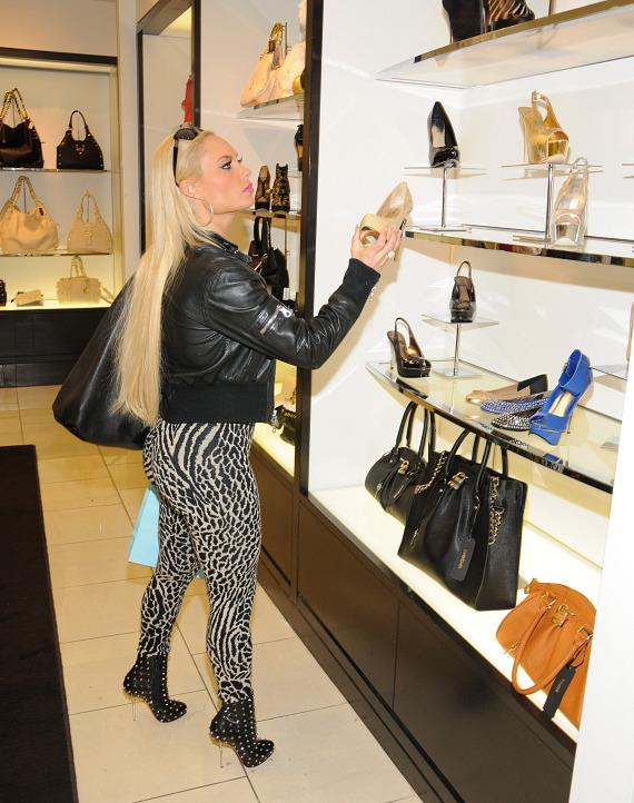 Coco shops for shoes at Town Square Las Vegas