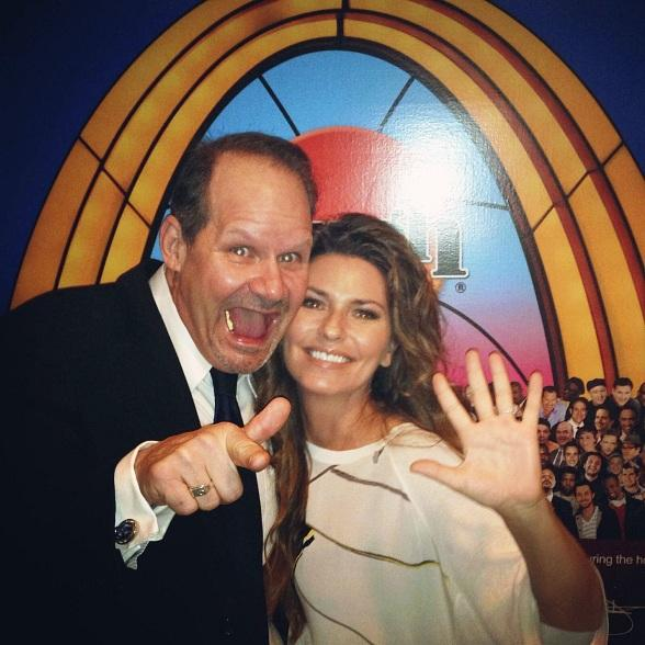 Shania Twain Visits Laugh Factory