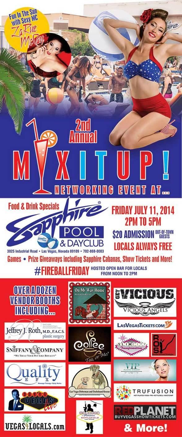 Sapphire Pool & Dayclub to Host 2nd Annual Mix It Up Networking Event Friday, July 11
