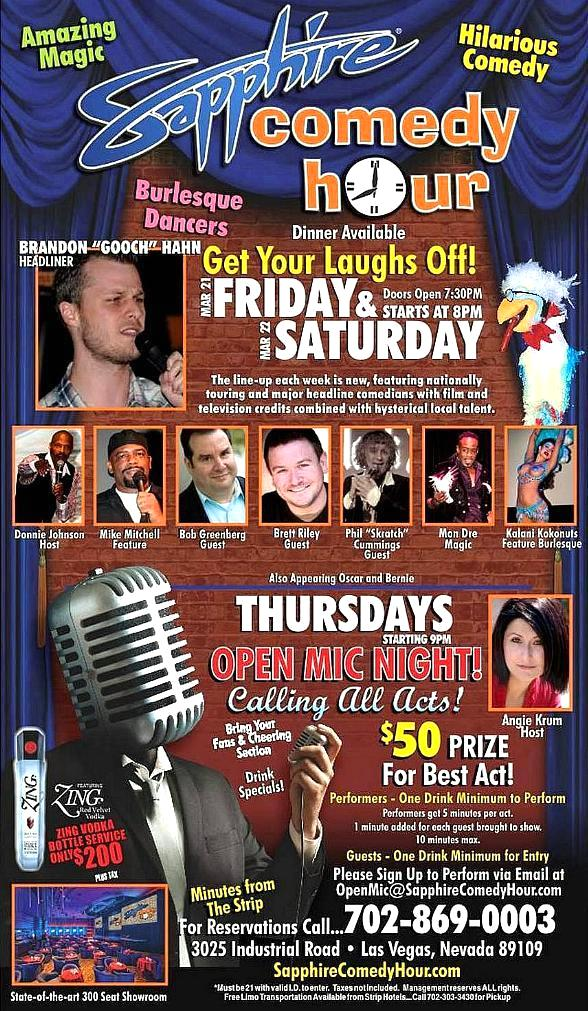 Jay Reid to Headline Sapphire Comedy Hour at Sapphire Las Vegas Friday, Mar. 28 and Saturday, Mar. 29