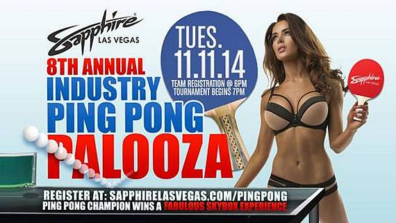 Eighth Annual Ping Pong Palooza at Sapphire Gentlemen's Club to Benefit Sapphire Foundation for Prostate Cancer Nov. 11