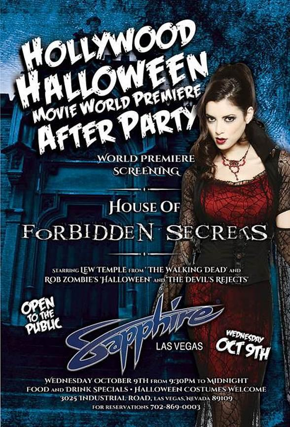 "Sapphire, ""World's Largest Gentlemen's Club,"" Hosts Hollywood Halloween Movie World Premiere After Party October 9"