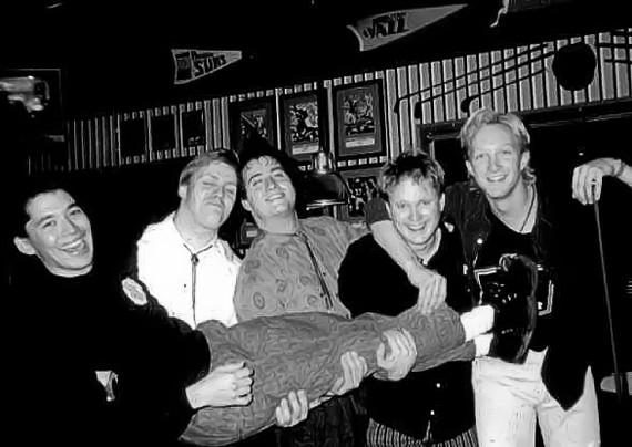 Face First in 1985: Anderson (carried), Polednak, Doctors, Hanson, Tuntland