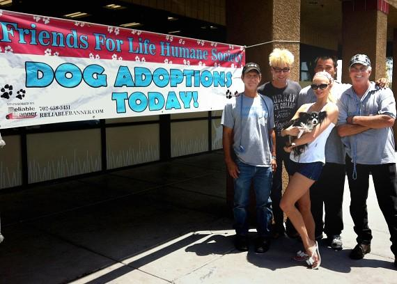 'Abby' with Murray, Chloe and Ron, Robert and RJ from Friends For Life Humane Society