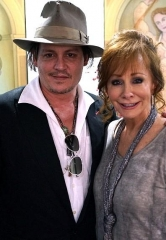"Johnny Depp attends ""Reba, Brooks & Dunn: Together in Vegas"" at The Colosseum at Caesars Palace"