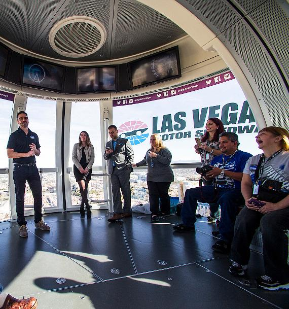 Jimmie Johnson rides the High Roller at The LINQ in Las Vegas