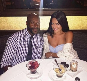 NFL Legend Jerry Rice and local realtor Mahsheed Barghisavar spotted at Morels in The Palazzo