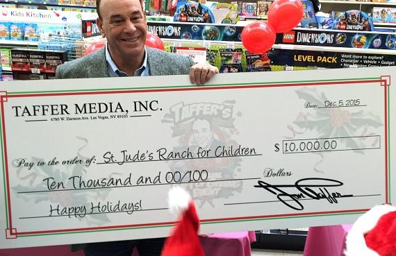 Jon surprises St. Jude's Ranch for Children with a $10,000 check