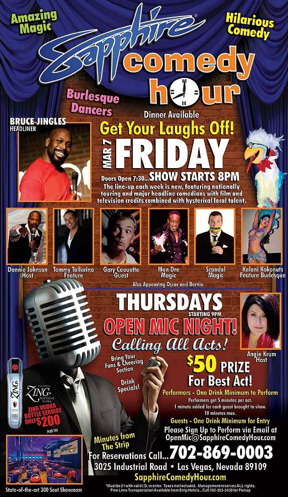 Bruce Jingles to Headline Sapphire Comedy Hour at Sapphire Las Vegas Friday, Feb. 21