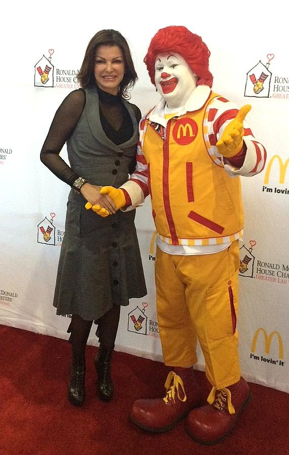 Chef Carla Pellegrino and Ronald McDonald