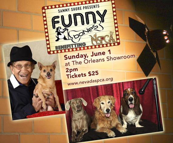 """Sammy Shore's Funny Bones"" to Benefit NSPCA on Sunday, June 1 at The Orleans Showroom"