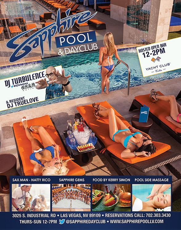 DJ Turbulence Spins for Industry Thursday at Sapphire Pool & Dayclub