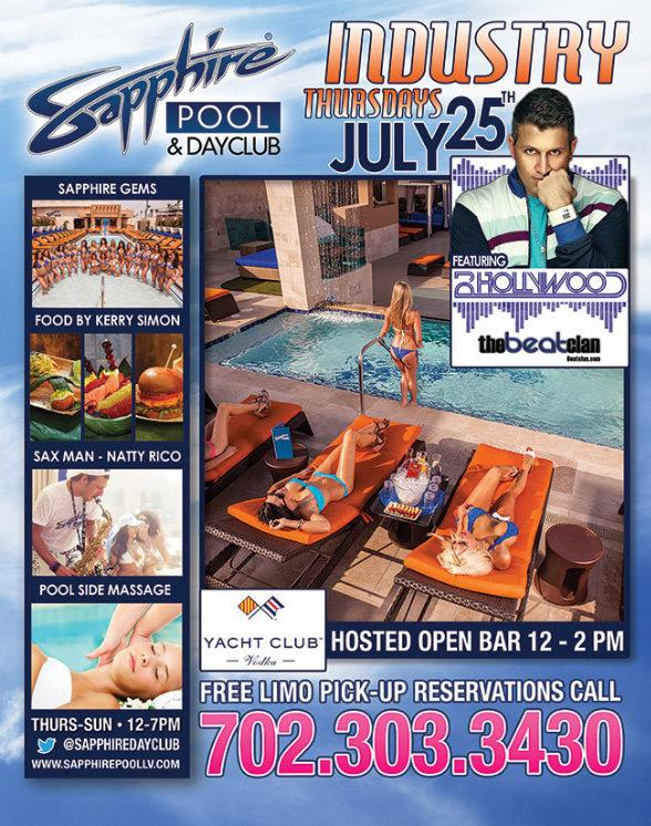 Industry Thursdays at Sapphire Pool & Dayclub with DJ Hollywood, DJ Truelove and DJ Casanova