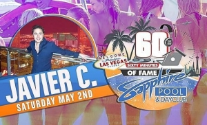 """Javier Cravioto, Sapphire Pool & Day Club's First """"60 Minutes of Fame"""" DJ, to Rock the Grand Opening Party May 2, 2015"""