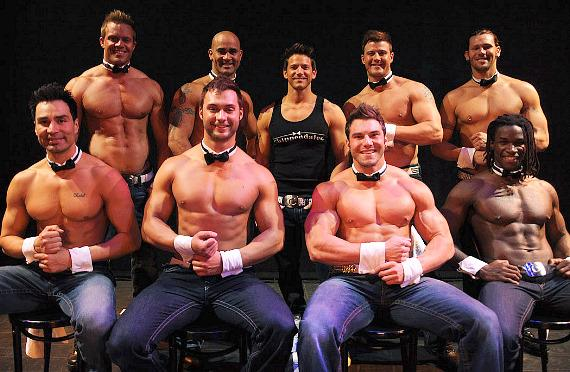 Jeff Timmons and the cast of Chippendales