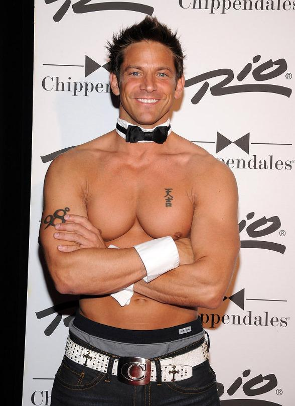 Jeff Timmons performs with Chippendales