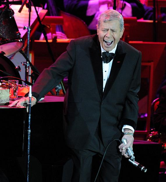 Jerry Lewis performs at The Orleans Showroom in Las Vegas