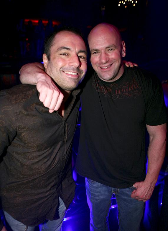 Joe Rogan and Dana White at LAX Nightclub