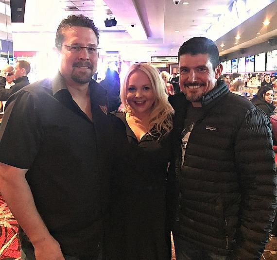 "John ""Tig"" Tiegen, Whitney Godard and Kris ""Tanto"" Paronto at the LONGBAR inside the D Casino Hotel Las Vegas"