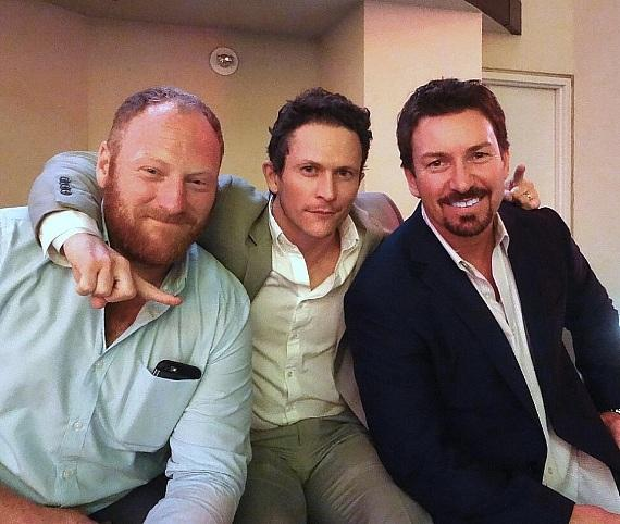 """Kingdom"" actors Jonathan Tucker and Mac Brandt with the D Casino Hotel VIP Celebrity Host Richard Wilk"