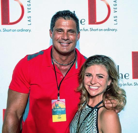 Jose Canseco with girlfriend Morgan Strelow