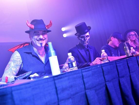 Dirk Vermin, Jason Egan, Roli Szabo and Angel Porrino at Judge's Table