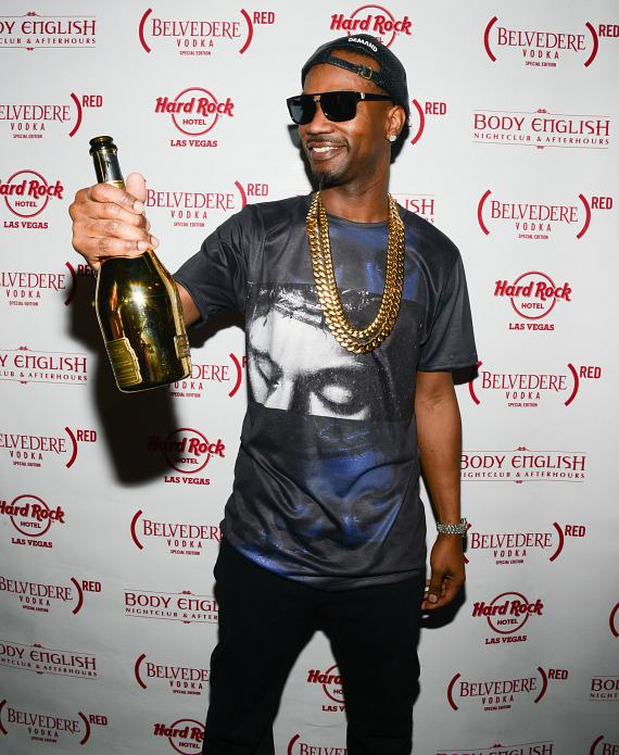 Juicy J on red carpet at Hard Rock Hotel Las Vegas