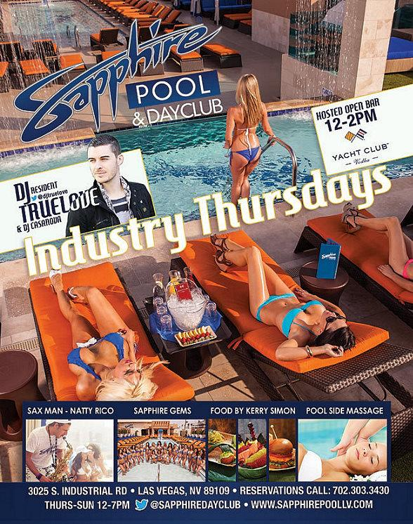 Party at Sapphire Pool & Dayclub on 4th of July with DJ Truelove and Industry Thursdays Open Bar