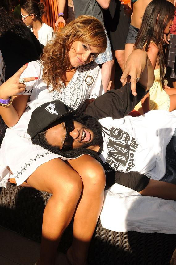 Karina Smirnoff and Lil Jon at TAO Beach