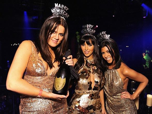 Kardashian Sisters Rock LAX Nightclub on New Year's Eve