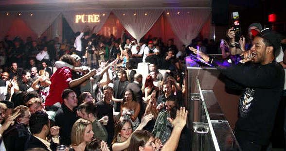 Travis Barker and a Slew of Stars Party at PURE Nightclub