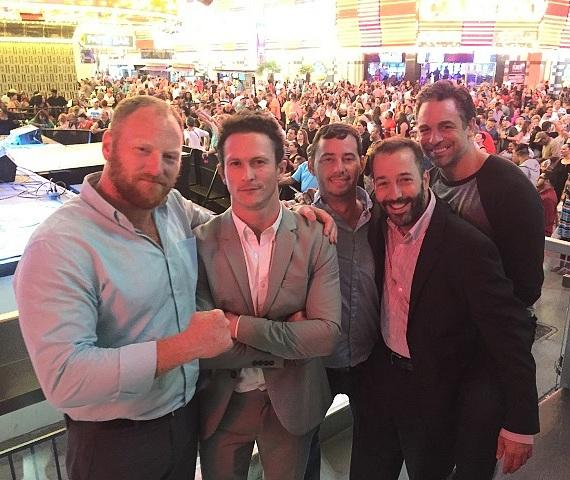 """Kingdom"" actors Jonathan Tucker and Mac Brandt with soap opera/TV star Chris Mckenna at the D Casino Hotel on Fremont Street Las Vegas"