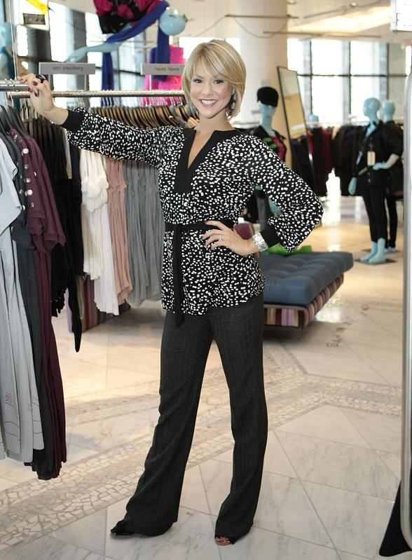Miss Haglund enjoys her shopping experience at Barneys New York in The Shoppes at The Palazzo