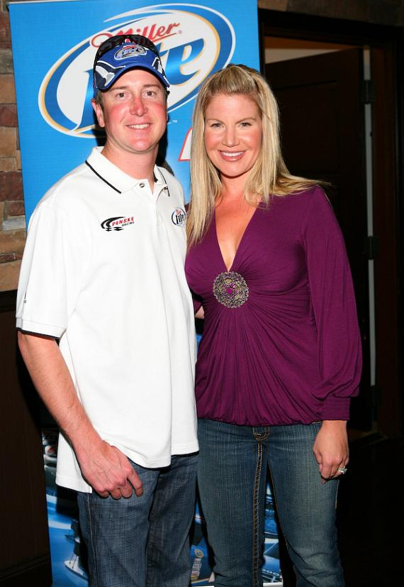 Kurt Busch and wife Eva at Racecar Simulator Challenge Event