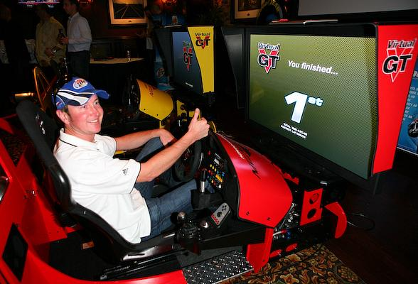 Kurt Busch in Racecar Simulator Challenge Event at Sierra Gold