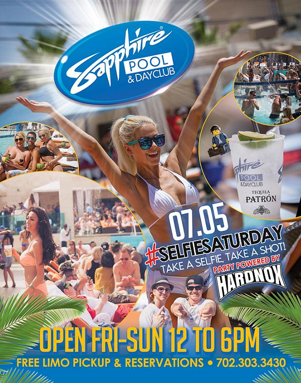 Take a Selfie, Take a Shot at Sapphire Pool & Day Club on #SelfieSaturday, July 5