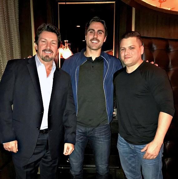 NHL Las Vegas Golden Knights player Alex Tuch with Richard Wilk and Friend at Andiamo Steak House